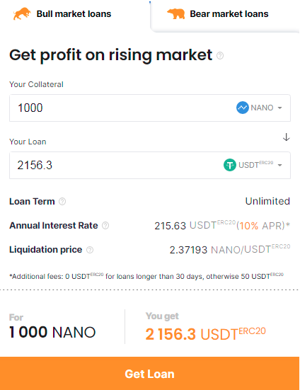 Get NANO loan