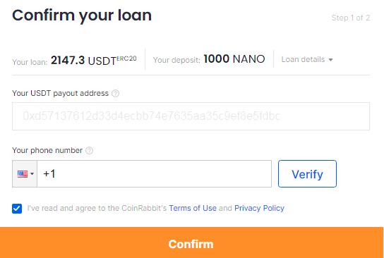 steps for NANO loan