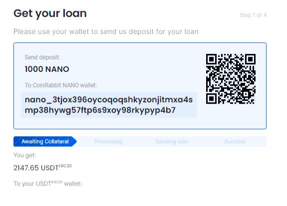 How take NANO loan