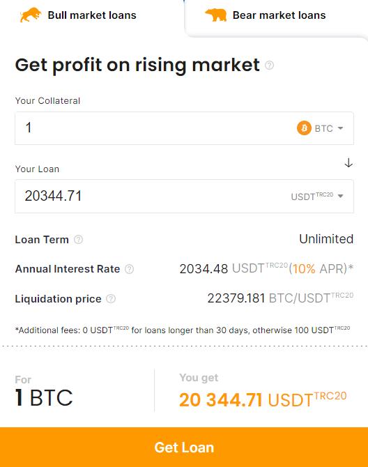 Confirm your USDT TRC20 loan